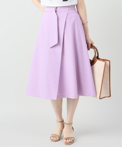 La TOTALITE(ラトータリテ)の「キュプラベルテッドラップスカート(スカート)」|パープル