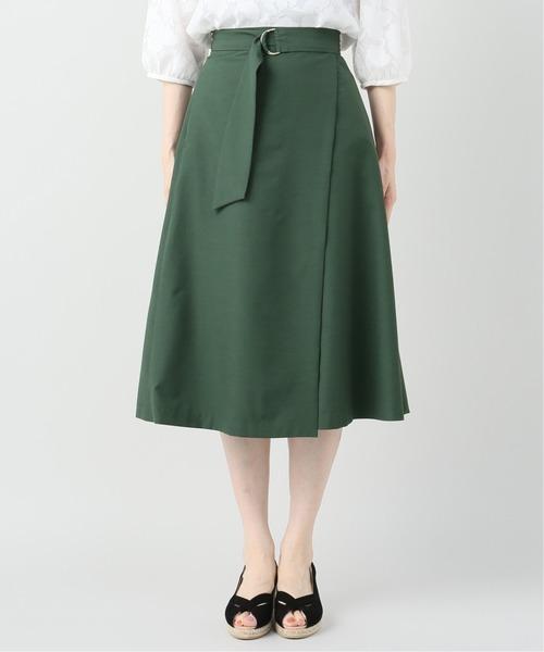 La TOTALITE(ラトータリテ)の「キュプラベルテッドラップスカート(スカート)」|詳細画像