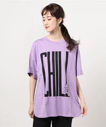 CHILL BEAR オーバーサイズTシャツパープル