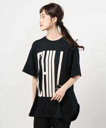 CHILL BEAR オーバーサイズTシャツブラック