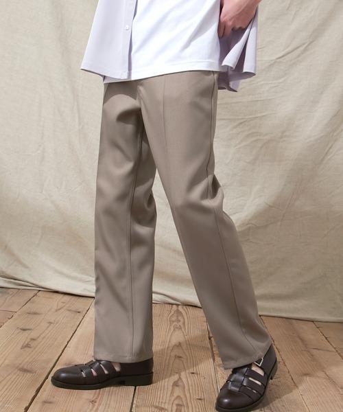 スタプレセンタープレス セミフレアパンツ EMMA CLOTHES 2021SPRING