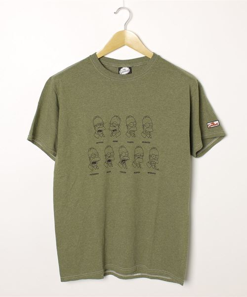 【 The Simpsons /  シンプソンズ 】 Tee FACE フェイス Tシャツ