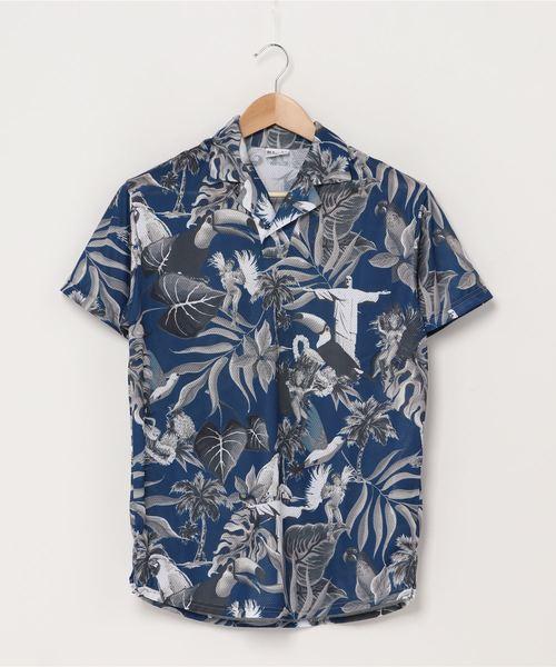 【 BomBR / ボンビーアール 】グラフィックプラロハシャツ BR0203 ASI