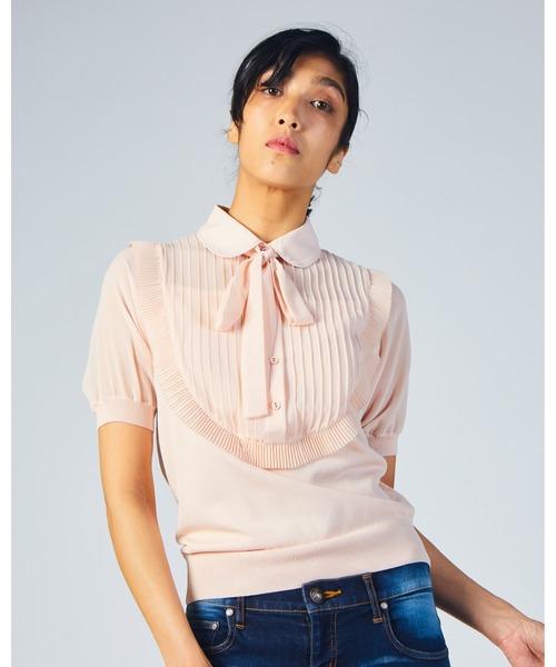 Sov.(ソブ)の「ダル糸+ポリシオン(Tシャツ/カットソー)」|ピンク