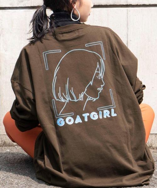 ビッグシルエット 天竺 イラストプリント L/S TEE / You will Shine/ANOTHER VISION/GOAT GIRL