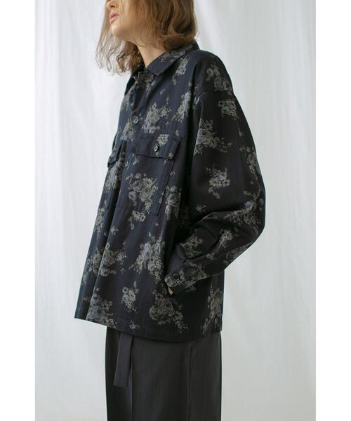 <monkey time> KATURAGI FLOWER PRINT CPO/CPOシャツ