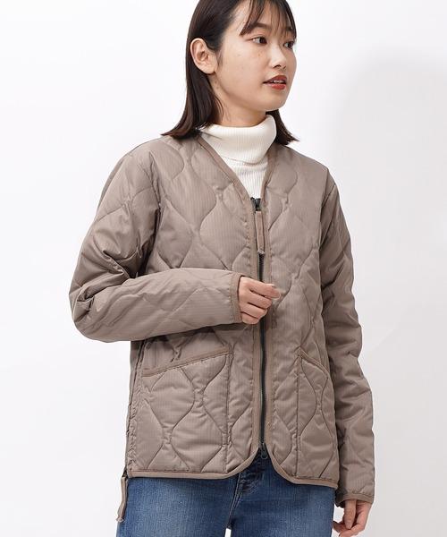 【 TAION / タイオン 】 ミリタリージップ Vネックダウンジャケット DON TAION101ZML1