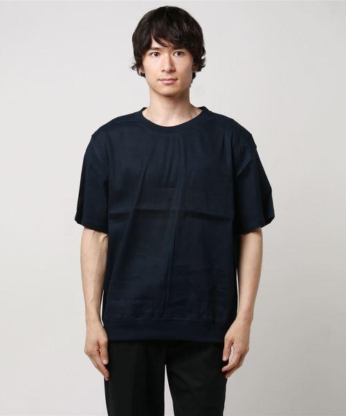 【TV着用】麻レーヨンストレッチシャツTシャツ