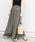 Khaju(カージュ)の「Khaju:リラックスマキシスカート19SS◆(スカート)」|ダークオリーブ