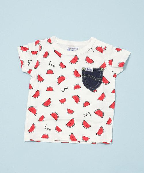 Stomp Stamp/Leeスイカ柄Tシャツ19SSLee-C-3
