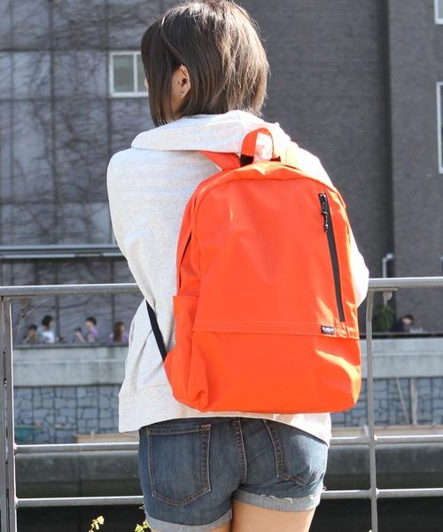 Healthknit(ヘルスニット)の「【Healthknit Product】撥水ナイロン11ポケットバックパック/リュックサック(バックパック/リュック)」|オレンジ
