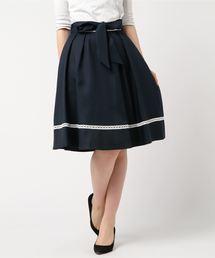 MISCH MASCH(ミッシュマッシュ)の配色レースフレアースカート(スカート)