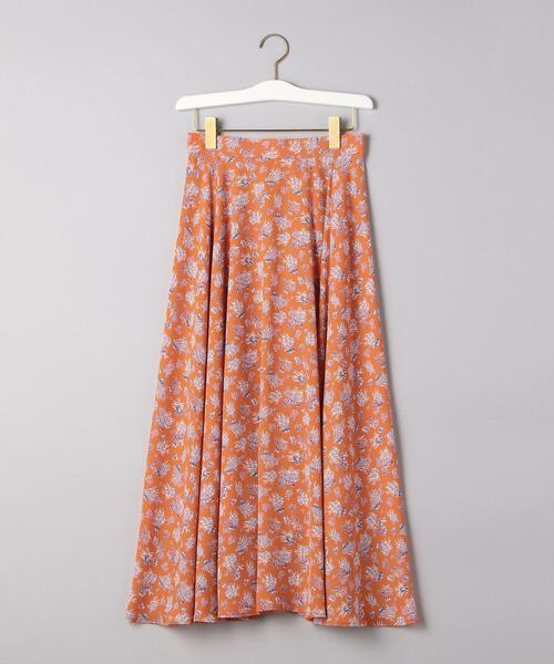 UWCS フラワープリント フレアースカート