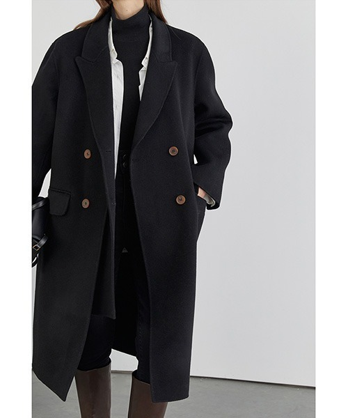 【Fano Studios】【2021AW】Double layered river tailoring chester coat FD20W254