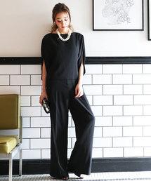 DRESS LAB(ドレスラボ)の大人上品セットアップワイドパンツ【2点セット】(ドレス)