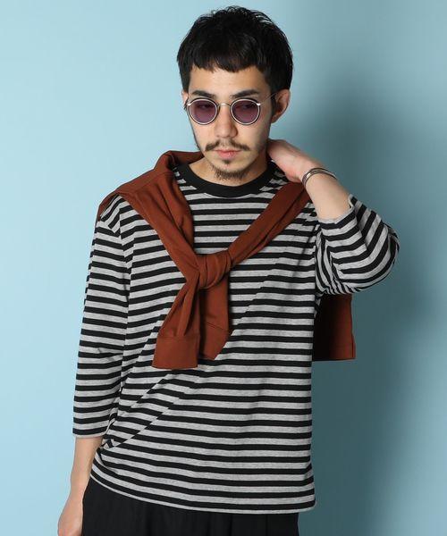 アメリカンラグシー AMERICAN RAG CIE / ボーダービッグTシャツ Striped Big T-shirt