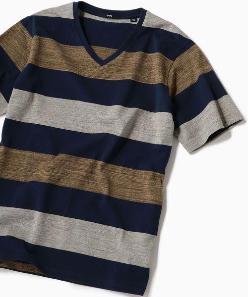 SC: MADE IN JAPAN ワイドボーダー Vネック Tシャツ 19SS
