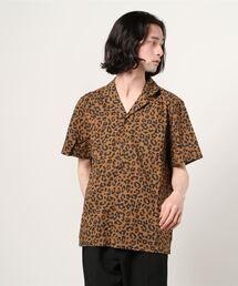 【 BANKS JOURNAL / バンクスジャーナル 】WILDER レオパード柄 半袖オープンカラーシャツ JJAキャメル