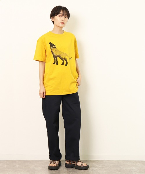 ∴【 JONAS CLAESSON / ジョナス・クレアッソン 】WOLF DREAMS プリント 半袖Tシャツ NSB
