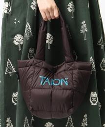 【 TAION / タイオン 】ダウンランチトートバッグ DON TAIONTOTE2Sダークブラウン
