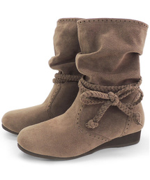 COULEURVARIE(クロールバリエ)の吸湿発熱 シャーリング リボン 軽量 ブーツ【クロールバリエ/COULEURVARIE】(ブーツ)