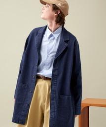 EMMA CLOTHES(エマクローズ)のLINEN×COTTONストレッチデニムショップコート(デニムジャケット)