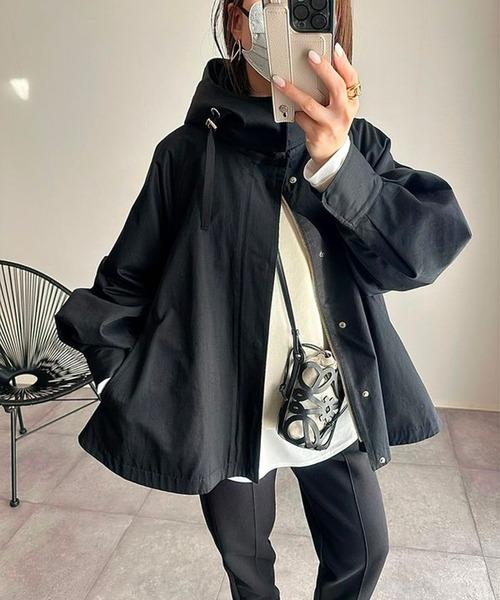 Emma Taylor(エマテイラー)の「【STYLEBAR】ミリタリーフレアーフードコート(ブルゾン)」|ブラック