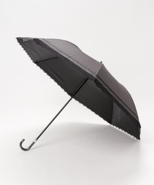 晴雨兼用  レースタイプショートワイド 傘袋付 27107