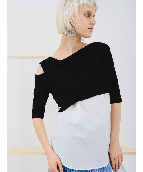正規品! ラッピングレイヤードニット(ニット/セーター)|ELENDEEK(エレンディーク)のファッション通販, okikawa :0a8feec3 --- fahrservice-fischer.de