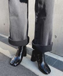 【chuclla】TABI short boots  chw1009ブラック系その他