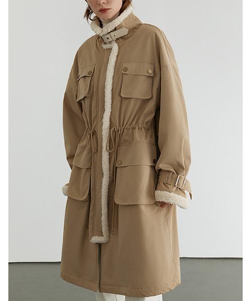 【Fano Studios】【2021AW】Boa color military coat FD20W258