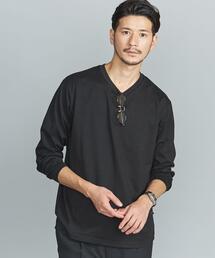 【WEB限定 WARDROBE SMART】 by クリア ガスコットン Vネック カットソー