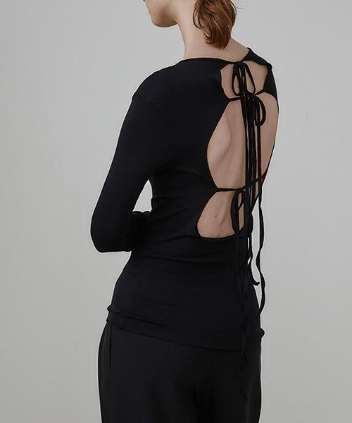 【UNSPOKEN】Lace back knit tops UQ21S048