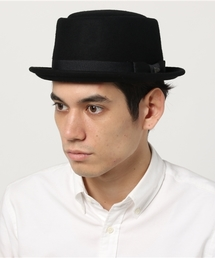 000d796bfd7 NEW ERA(ニューエラ)のNEWERA PORKPIE HAT WOOL FELT BLACK(ハット)