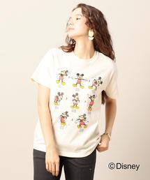 BY MICKY(ミッキー)プリントクルーネックTシャツ/Disney o