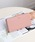 Ungrid(アングリッド)の「【Ungrid/アングリッド】 【牛革】  牛革ラウンドZIP長財布(財布)」|ピンク