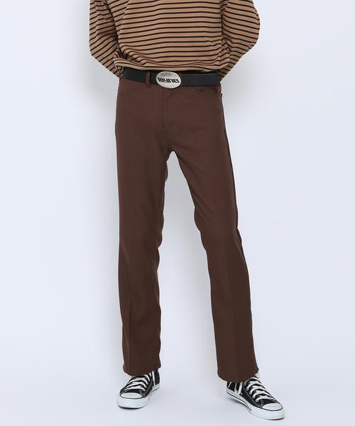 【正規通販】 【MYne】ワッペンブーツカットパンツ/Wappen Boot-cut Pants, イタドリムラ 2e94e6ae