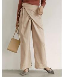 Re:EDIT(リエディ)の2WAY裾ボタン付きカシュクールパンツ(パンツ)