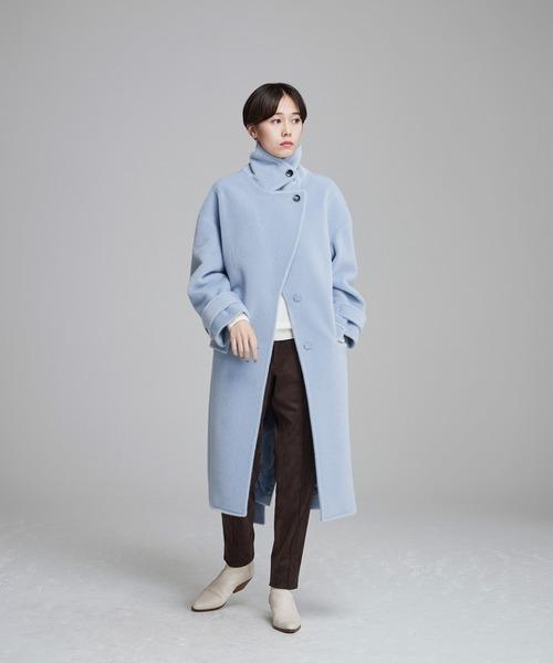 NOISE MAKER(ノイズメーカー)の「2way shaggy oversize coat(その他アウター)」 ライトブルー