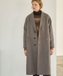 ビーバーメルトン オーバーサイズ ラグランルーズスリーブ ロングセミダブルチェスターコート EMMA CLOTHES 2021 WINTERブラウン系その他2