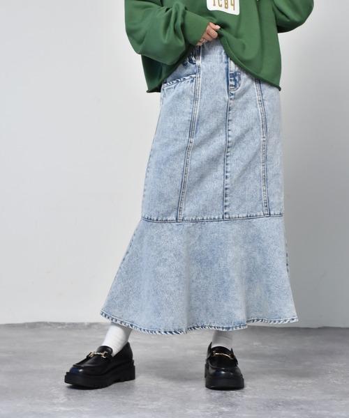 切替マーメイドスカート