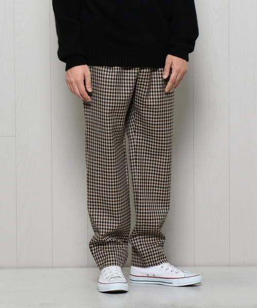 <H>CHECK TAPERED PANTS/パンツ ◆