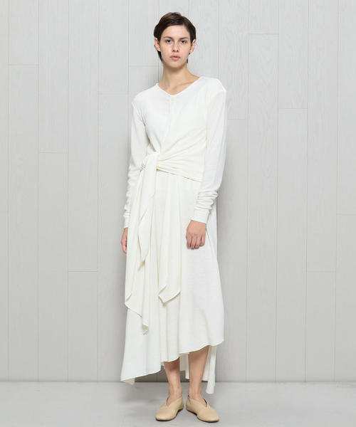 <LEMAIRE>KNOTTED WRAP DRESS/ワンピース