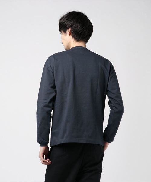 【MEN'S】ロングスリーブ クルーネック リブTシャツ