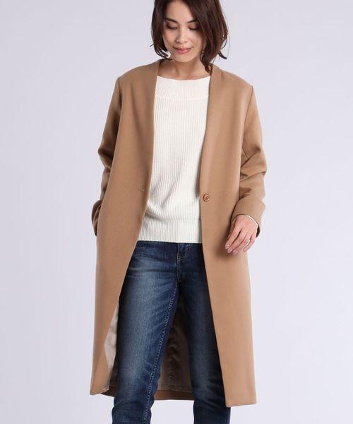 最高級のスーパー 【セール】ノーカラーベーシックコート(チェスターコート) CLEAR IMPRESSION (クリアインプレッション)のファッション通販, clothing warehouse:cf201e06 --- 5613dcaibao.eu.org