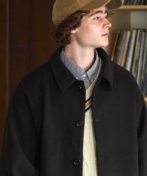 ビーバーメルトン オーバーサイズ ルーズスリーブ ダルマブルゾン EMMA CLOTHES 2021 WINTERブラック