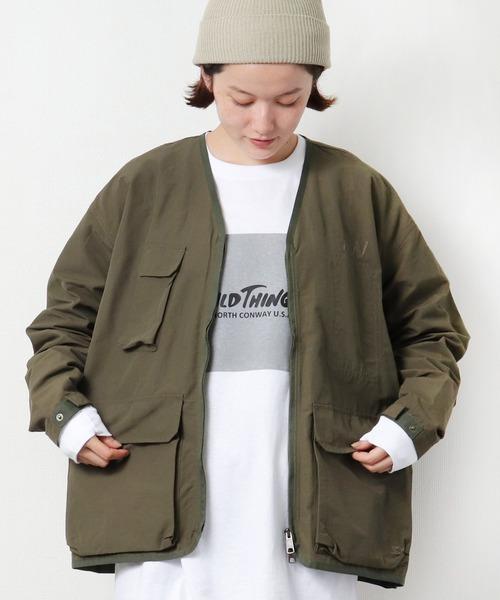 【 STARTER / スターター 】 WILDLIFE WORKS ミリタリー ZIPジャケット ノーカラー S57048Pz BNU