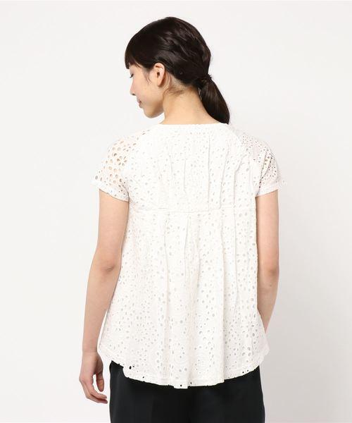 【19夏新着】バックレース切替Tシャツ