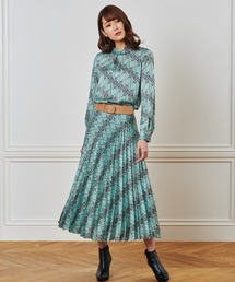 ANAYI(アナイ)のレトロフラワープリントプリーツ スカート(スカート)