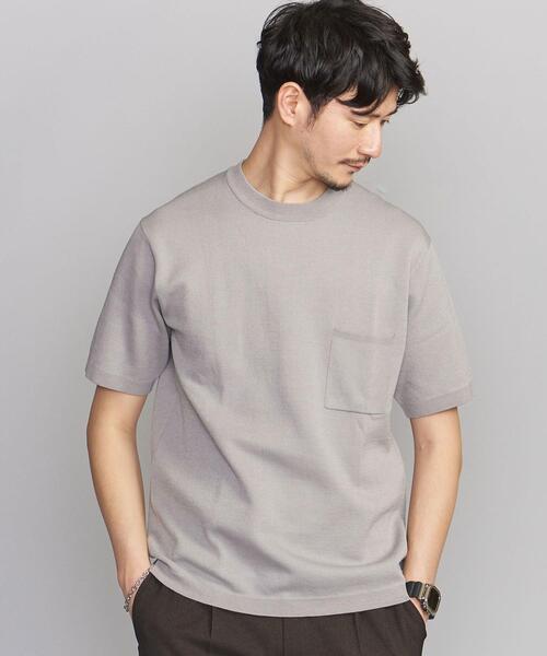 【WEB限定 WARDROBE SMART】by KOKIN 1ポケット ニット Tシャツ